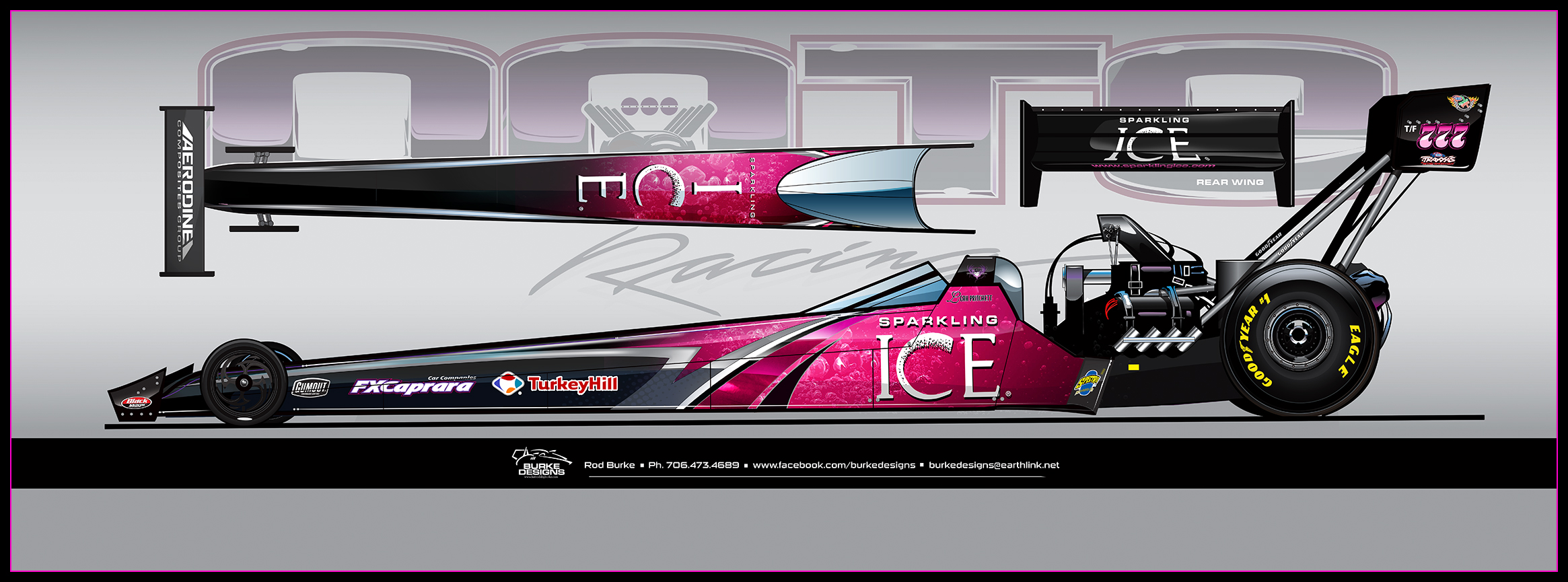 SPARKLING ICE PRIMARY SPONSOR OF DOTE RACING TOP FUEL DRAGSTER IN