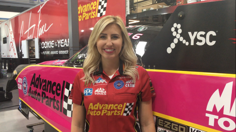 Courtney Force Supporting Breast Cancer Awareness With