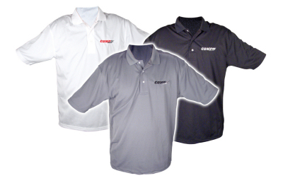 Comp cams embroidered dri mesh polo shirts competition plus for High quality embroidered polo shirts