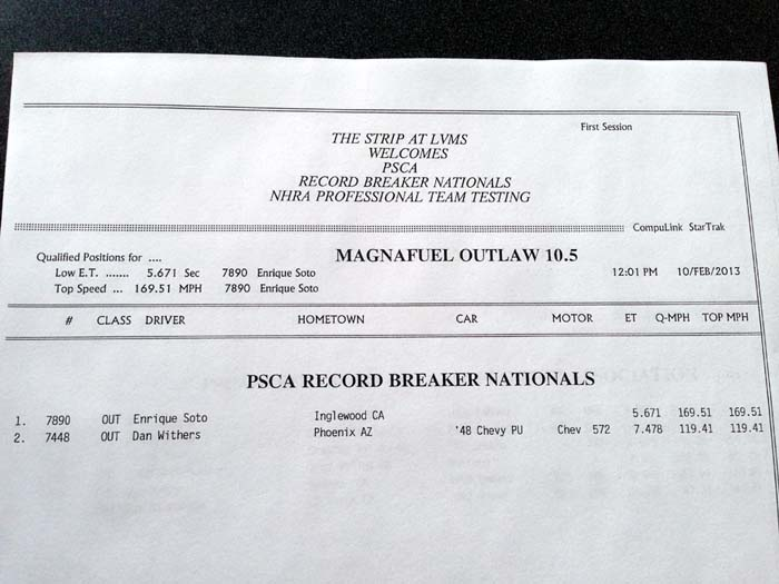 PSCA Outlaw 10.5 Q1
